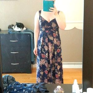 Made in Italy floral maxi dress large